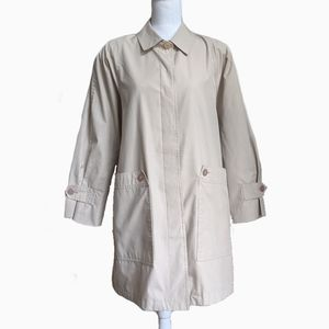 LONDON FOG | BEIGE BUTTON UP TRENCH COAT